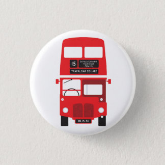 Badge Rond 2,50 Cm Insigne rouge d'autobus de Londres