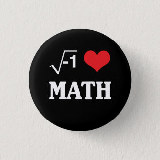 Badge Rond 2,50 Cm J'aime des maths