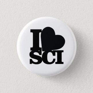 Badge Rond 2,50 Cm J'aime la goupille de la Science