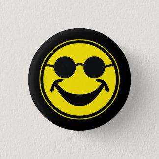 Badge Rond 2,50 Cm Jaune souriant sans visibilité + votre backg. et