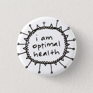 Badge Rond 2,50 Cm je suis bouton optimal de santé