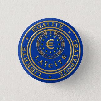 Badge Rond 2,50 Cm laïc de laïque de l'Europe