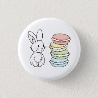 Badge Rond 2,50 Cm Lapin avec des macarons
