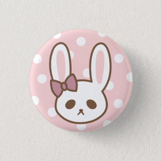 Badge Rond 2,50 Cm Lapin Girly par Yokute
