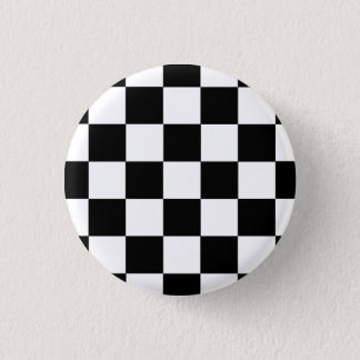 Badge Rond 2,50 Cm Le bouton carreau noir/sait