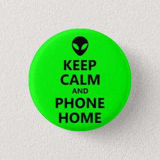 Badge Rond 2,50 Cm Le vert maintiennent maison calme et de téléphone