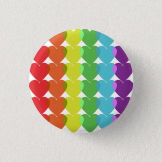 Badge Rond 2,50 Cm Les coeurs sont amour !