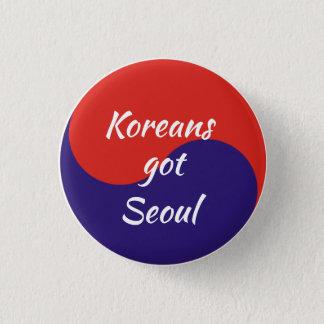 Badge Rond 2,50 Cm Les Coréens ont passé Séoul