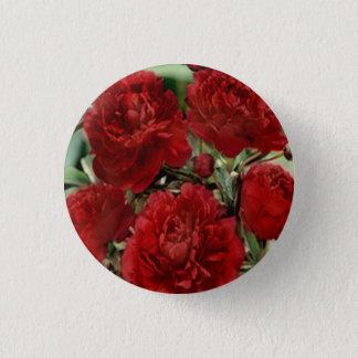 Badge Rond 2,50 Cm L'oeillet rouge fleurit le bouton