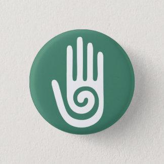 Badge Rond 2,50 Cm Mains curatives de main en spirale