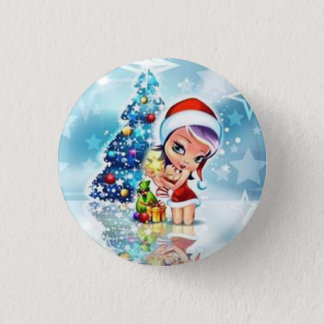 Badge Rond 2,50 Cm Merry Christmas -