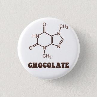 Badge Rond 2,50 Cm Molécule scientifique de théobromine d'élément de