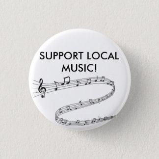 Badge Rond 2,50 Cm Montrez fièrement votre soutien de la musique
