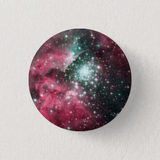 Badge Rond 2,50 Cm Nébuleuse en pastel de l'espace de Goth
