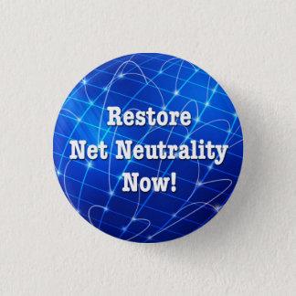 Badge Rond 2,50 Cm Neutralité nette de restauration maintenant !