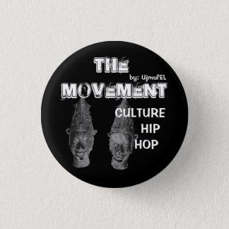 Badge Rond 2,50 Cm (noir) le bouton rond de mouvement