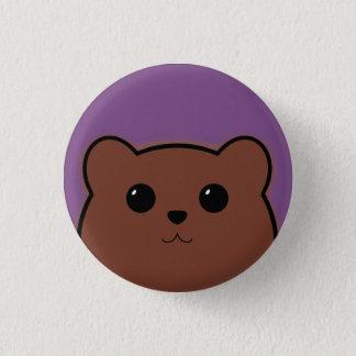 Badge Rond 2,50 Cm Ours de Kawaii (Brown)