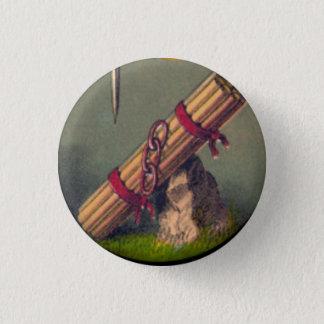 Badge Rond 2,50 Cm Paquet de bâtons et de trois liens bouton de 1
