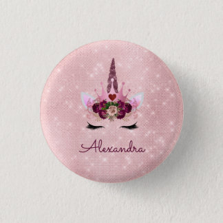 Badge Rond 2,50 Cm Parties scintillantes de rose de Gold Blush rose