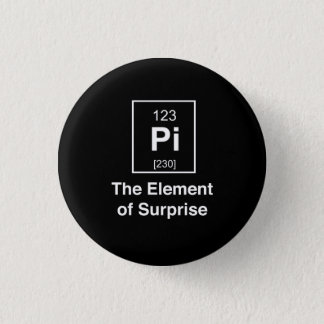 Badge Rond 2,50 Cm Pi l'effet de surprise