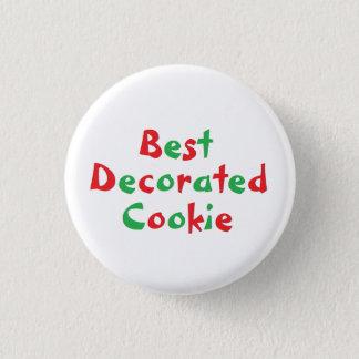 """Badge Rond 2,50 Cm Pin de récompense du """"meilleur biscuit décoré"""""""
