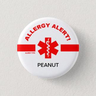 Badge Rond 2,50 Cm Pin personnalisable d'alerte d'allergie