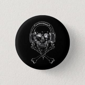 Badge Rond 2,50 Cm Pirate de musique et fier - rayon X