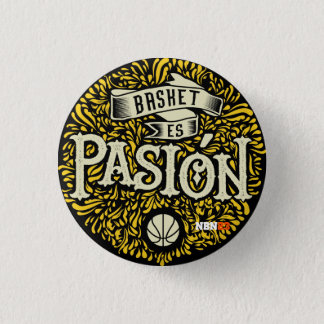 Badge Rond 2,50 Cm Plaque Basket est Passion NBN23