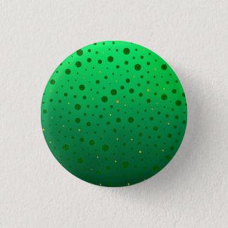 Badge Rond 2,50 Cm Points élégants - or vert - le jour de St Patrick