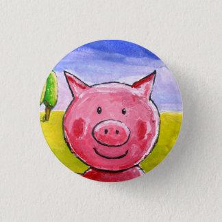 Badge Rond 2,50 Cm Porc heureux