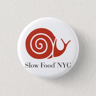 Badge Rond 2,50 Cm Produits lents de logo de la nourriture NYC