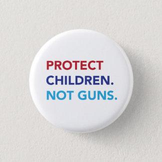Badge Rond 2,50 Cm Protégez les enfants. Pas armes à feu