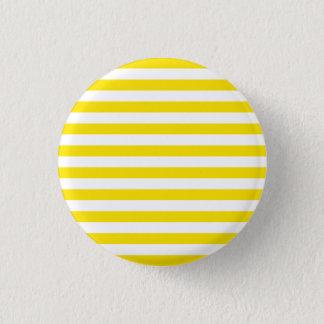 Badge Rond 2,50 Cm Rayures jaunes horizontales