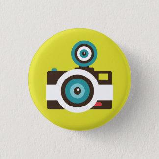 Badge Rond 2,50 Cm Rétro bouton de talent d'appareil-photo instantané