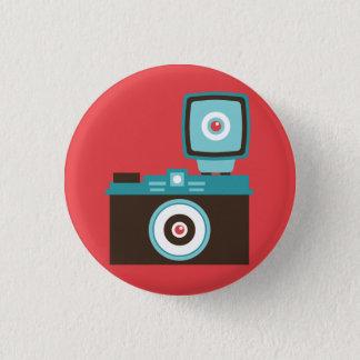 Badge Rond 2,50 Cm Rétro talent analogue d'appareil-photo