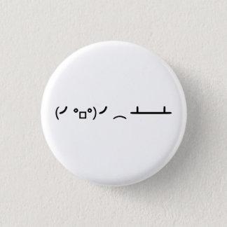 Badge Rond 2,50 Cm Secousse de Tableau renversant l'émoticône d'ASCII