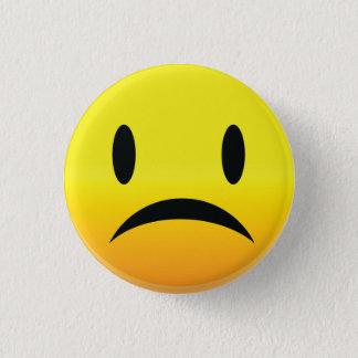 Badge Rond 2,50 Cm Smilie font face à triste