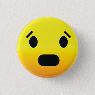 Badge Rond 2,50 Cm Smilie font face effrayé