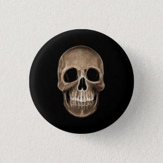 Badge Rond 2,50 Cm Squelette humain de rayon X de Halloween de crâne