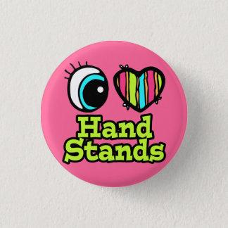 Badge Rond 2,50 Cm Supports lumineux de main d'amour du coeur I