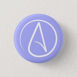 Badge Rond 2,50 Cm Symbole athée : blanc sur le bigorneau