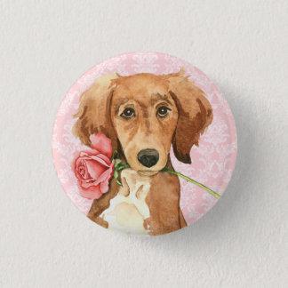 Badge Rond 2,50 Cm Valentine Saluki rose