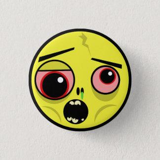 Badge Rond 2,50 Cm Visage de zombi