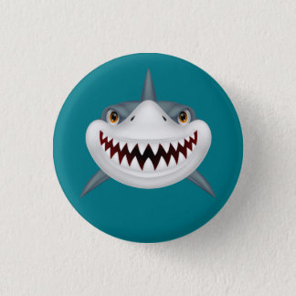 Badge Rond 2,50 Cm Visage effrayant Animated de requin