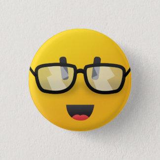 Badge Rond 2,50 Cm Visage souriant avec la goupille en verre