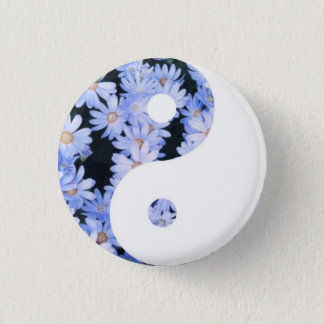 Badge Rond 2,50 Cm Yin floral Yang