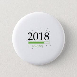 Badge Rond 5 Cm 2018 nouvelles années Ève de chargement drôle