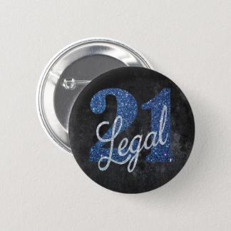 Badge Rond 5 Cm 21ème Noir royal juridique de parties