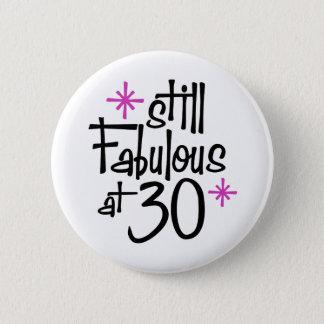 Badge Rond 5 Cm 30ème Anniversaire