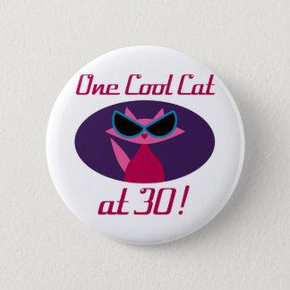 Badge Rond 5 Cm 30ème anniversaire de chat frais